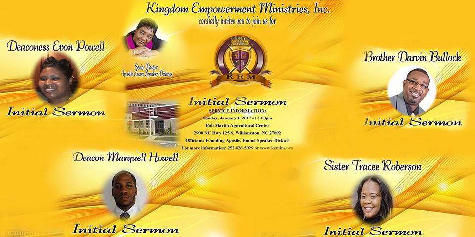 Kingdom Empowerment Ministries Inc Initial Sermon Service